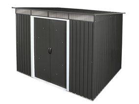 Tepro Metall-Gerätehaus Pent Roof Skylight 8x6 Anthrazit 251,9 cm x 171,8 cm