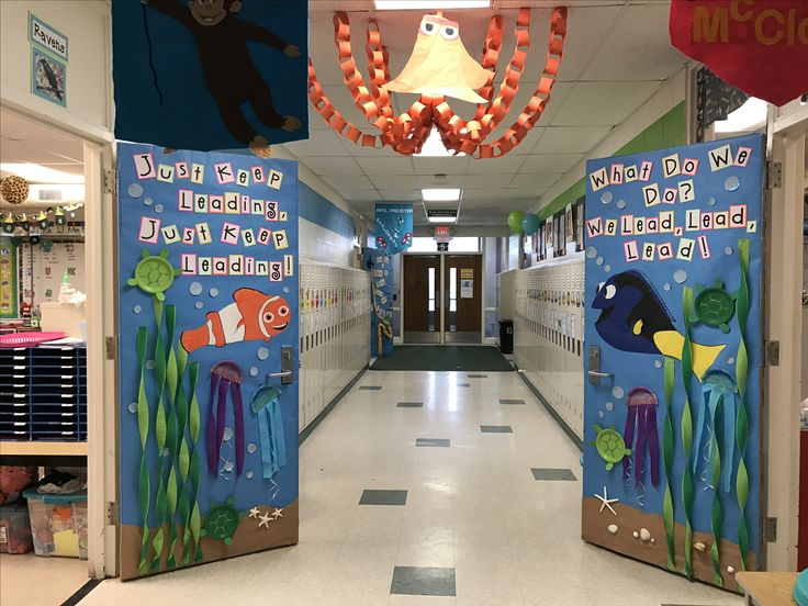 Finding dory and finding memo classroom doors.