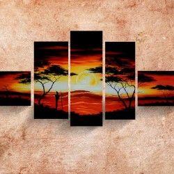 Enjoyable Sunset! Passa på fynda denna handmålade 5-delars solnedgångstavla! Canvastavlans snyggt balanserade färger samt stora tavelstorlek ger ditt hem det lilla extra för att du ska trivas ytterligare.  Länk till produkt: http://www.feelhome.se/produkt/enjoyable-sunset/  #Homedecoration #Canvas #olipainting #art #interior #design #Painting #handpainted #interiordesign #canvastavla #canvastavlor #Natur #solnedgång #Vardagsrum #Kontor #Modernt #träd