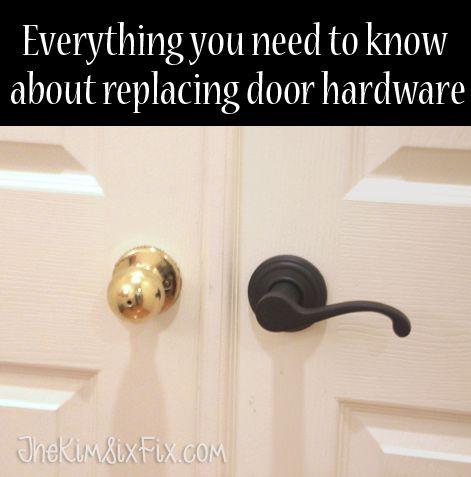 Everything You Need to Know Before Replacing Your Door Hardware via www.TheKimSixFix.com #TheKimSixFix
