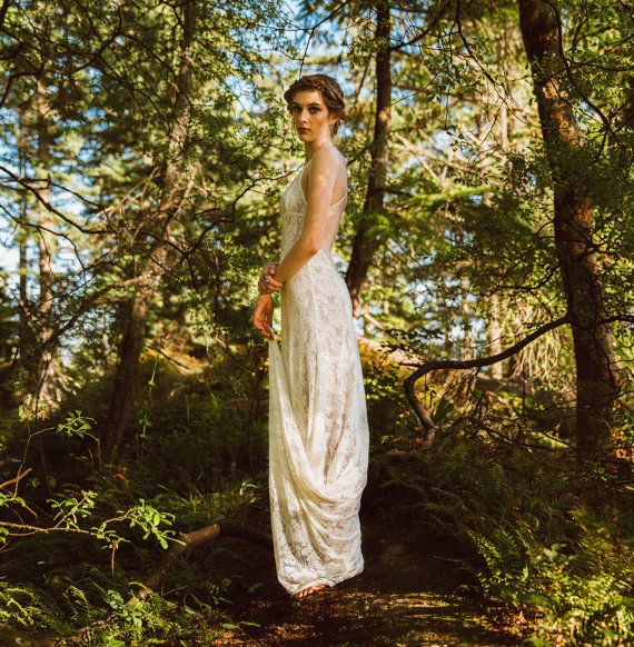 Backless Lace Wedding Dress Low Back Wedding Dress By