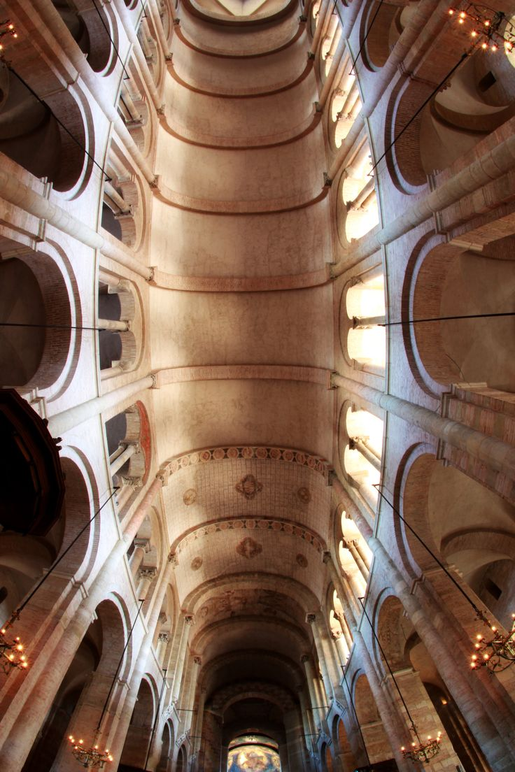 St Sernin - ceiling - #Romanesque church in Toulouse ...