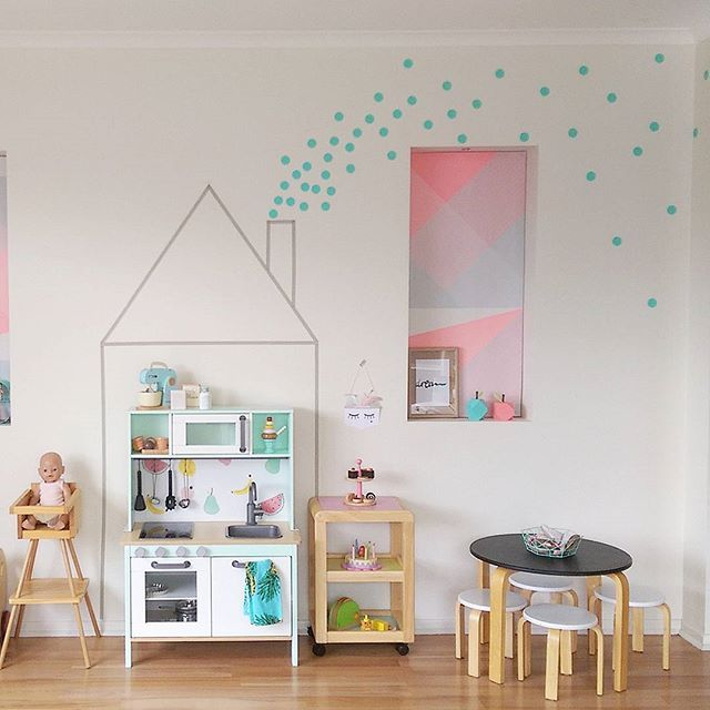 Our little Ikea play kitchen that I pimped has been featured over at…ikea kids kitchen duktig makeover childrens kitchen inspired by blog http://www.intrepidbebe.com