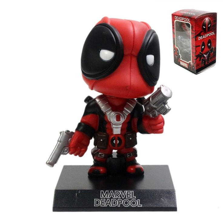 5'' Deadpool Action Figure Marvel X Men Legends Universe Bobble Head New Red Toy DC012097 #Affiliate