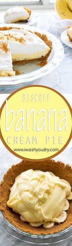Biscoff Banana Cream Pie