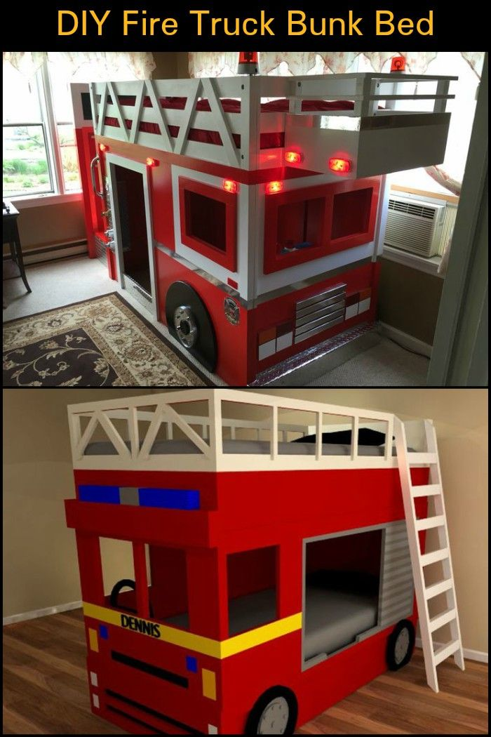 Diy Fire Truck Bunk Bed Kiddos One Day Pinterest Bed Kids