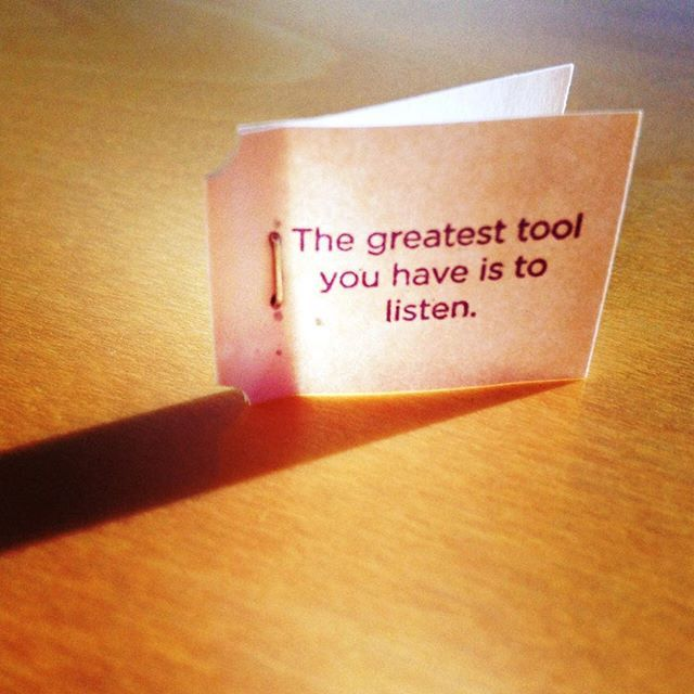"""""""The greatest tool you have is to listen."""" ~Yogi tea tag quote #yogitea"""