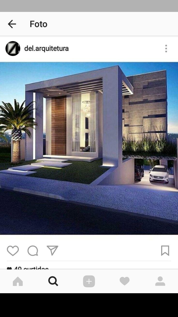 4778 mejores im genes de fachadas minimalistas en for Ingreso casas modernas