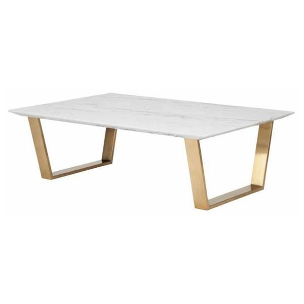 Catrine White Stone Coffee Table
