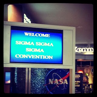 Tri Sigma Welcome Sign at Orlando Airport