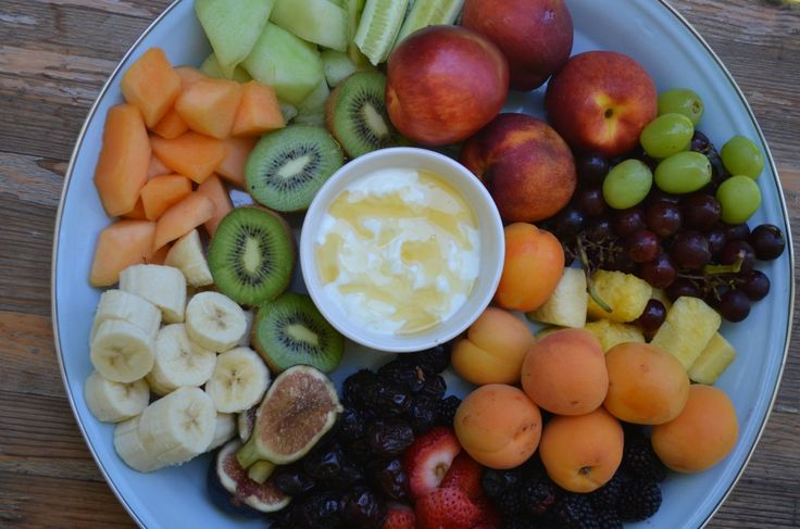 Party Platter Fruit Salad with Yogurt & Honey