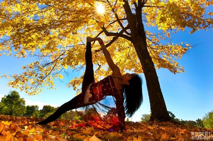 Yoga In Autumn by Robert Sturman Ontario, Canada Anita Venugopal Loved and pinned by www.downdogboutique.com #Yoga
