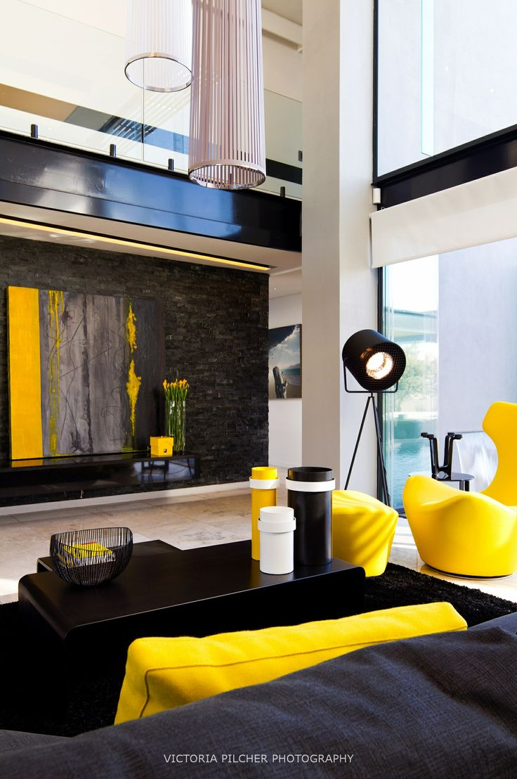 Black and yellow.  House Ber - Nico van der Meulen Architects