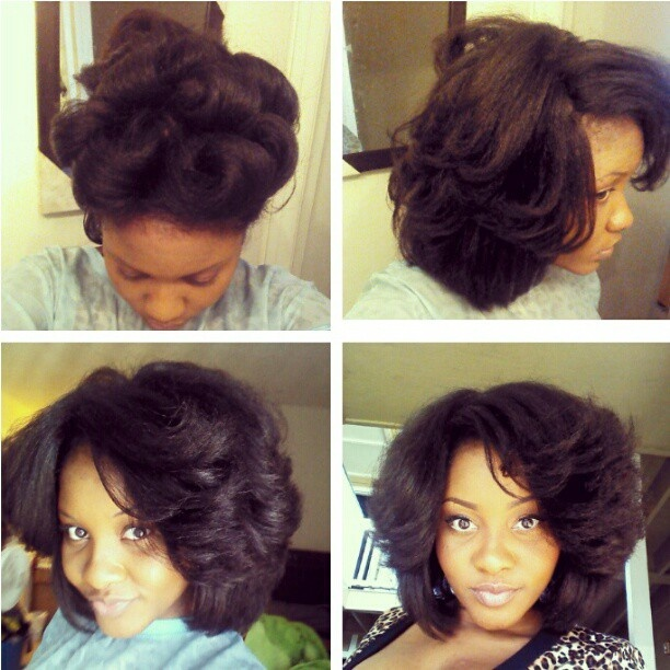Hairstyles For Short Relaxed Hair Without Heat : ... french braid hairstyles long hair natural black hair pin curls