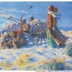 { Mormon Share } Handcart Pioneers Approaching Salt Lake Valley