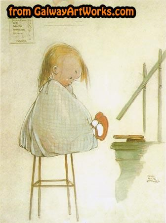 Print of my first haircut.. by the artist Mabel Lucie Attwell