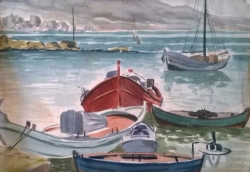 watercolor-painting-sea-boats