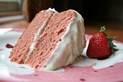 GF Strawberry Cake