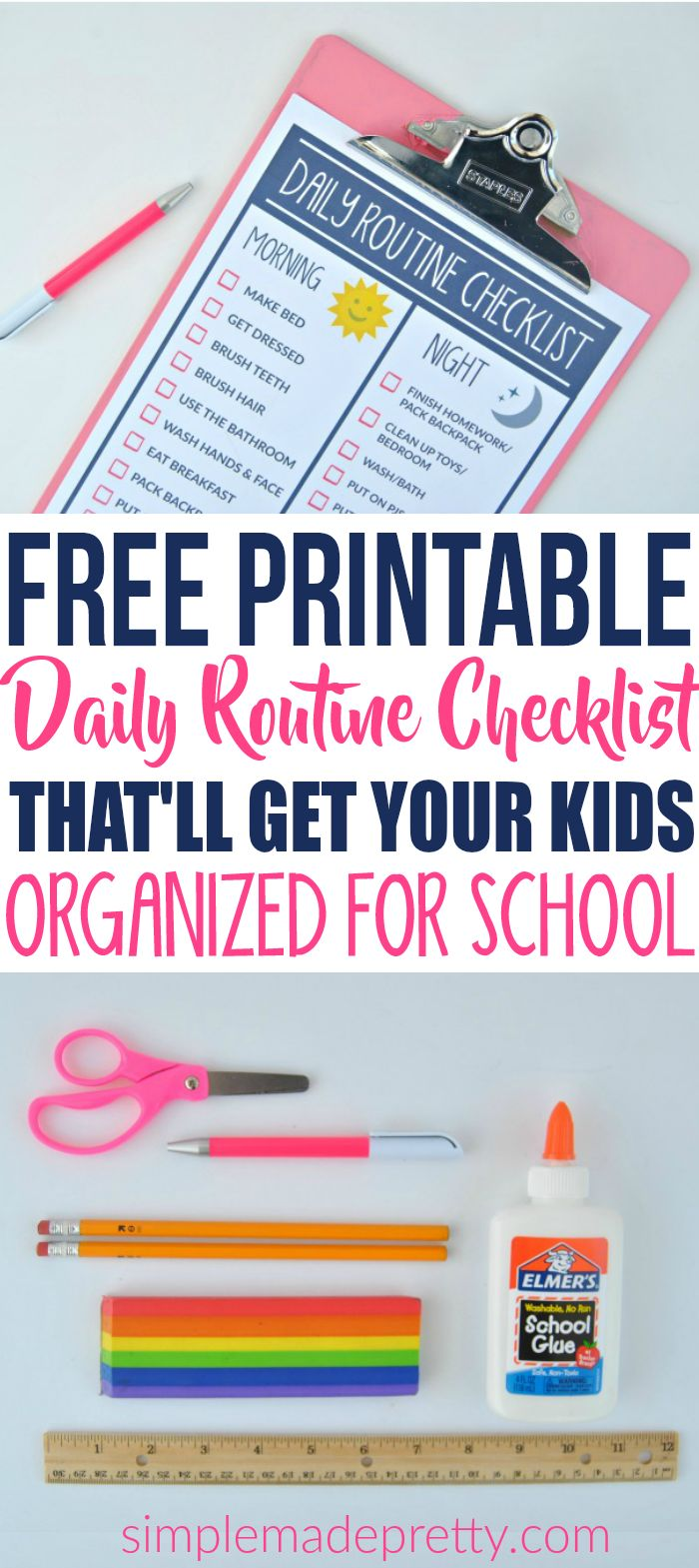 This free printable routine chart for kids was so helpful! If you want to establish a routine for kids, this is great information to get started. The daily checklist for kids is really cute and easy to follow!