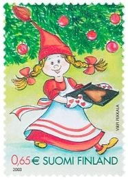 Joulupostimerkki 2003 2/2 - Piparkakkujen leipominen