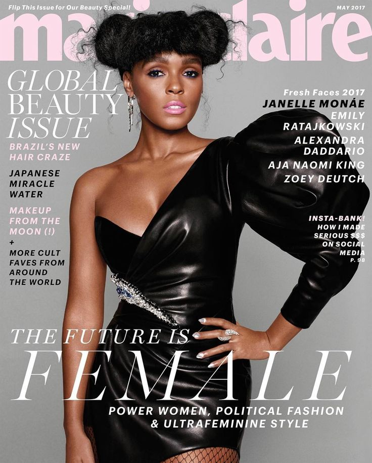 """8,127 Likes, 91 Comments - Janelle Monáe (@janellemonae) on Instagram: """"THANK YOU @marieclairemag 4 having me a part of the #FreshFaces issue! HONORED.  #FemtheFuture…"""""""