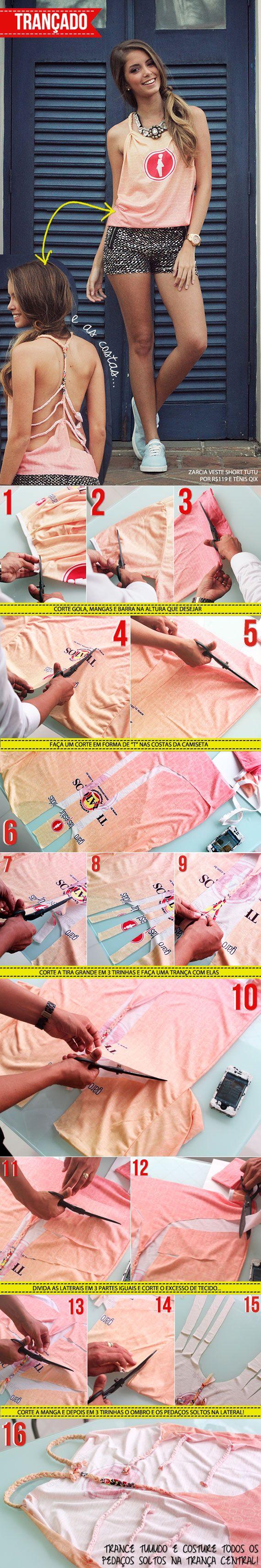 DIY: Customizar Blusa - Garotas Estúpidas.