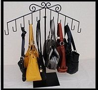 purse store display ideas | purse holder foot measuring devices handbag display stands they have ...