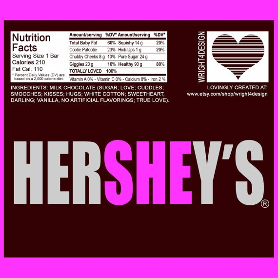 17 Best images about girl birth announcement – Hershey Bar Birth Announcements
