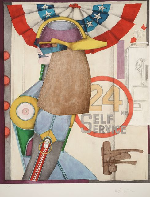 Richard Lindner, '24 Hr. Service from Fun City,' 1971, Dallas Museum of Art