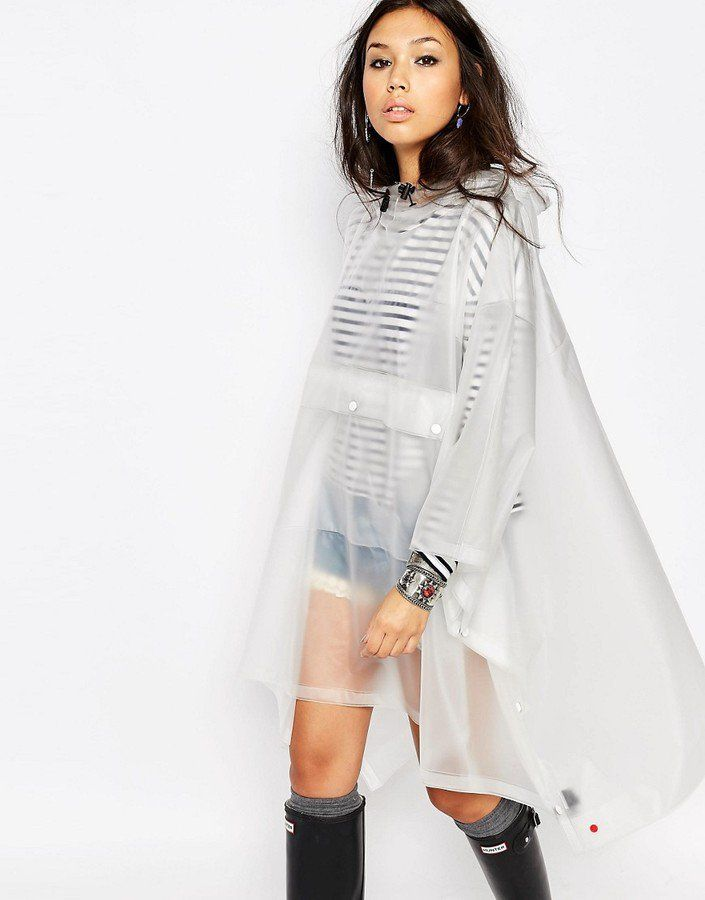 Pin for Later: Festival Drizzle Is No Match For These 23 Rain Macs Hunter Festival Clear Vinyl Poncho (£140)