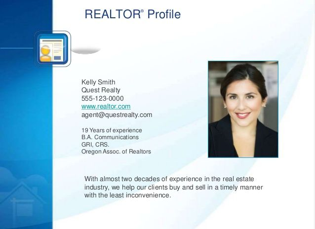 16 best Listing Presentations images on Pinterest Real estates - real estate agent sample resume