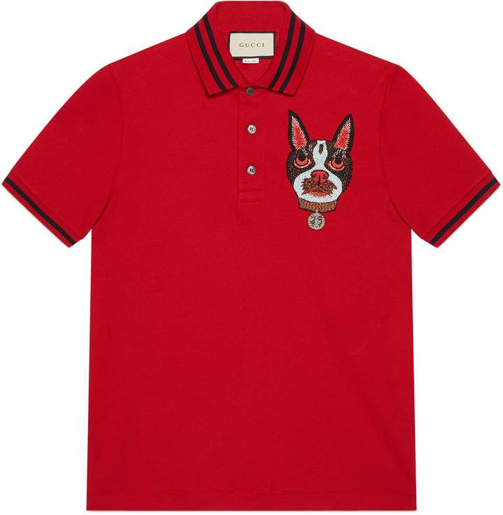 3a285358 Men's polo with Orso patch #Gucci #shirt #ShopStyle #MyShopStyle click link  to