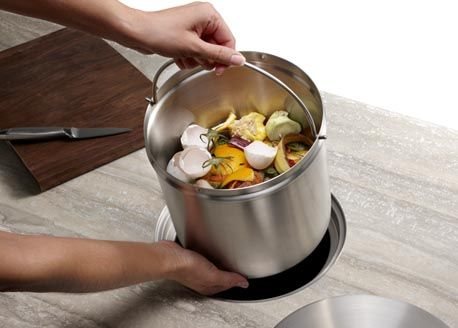 blanco kitchen incounter compost system