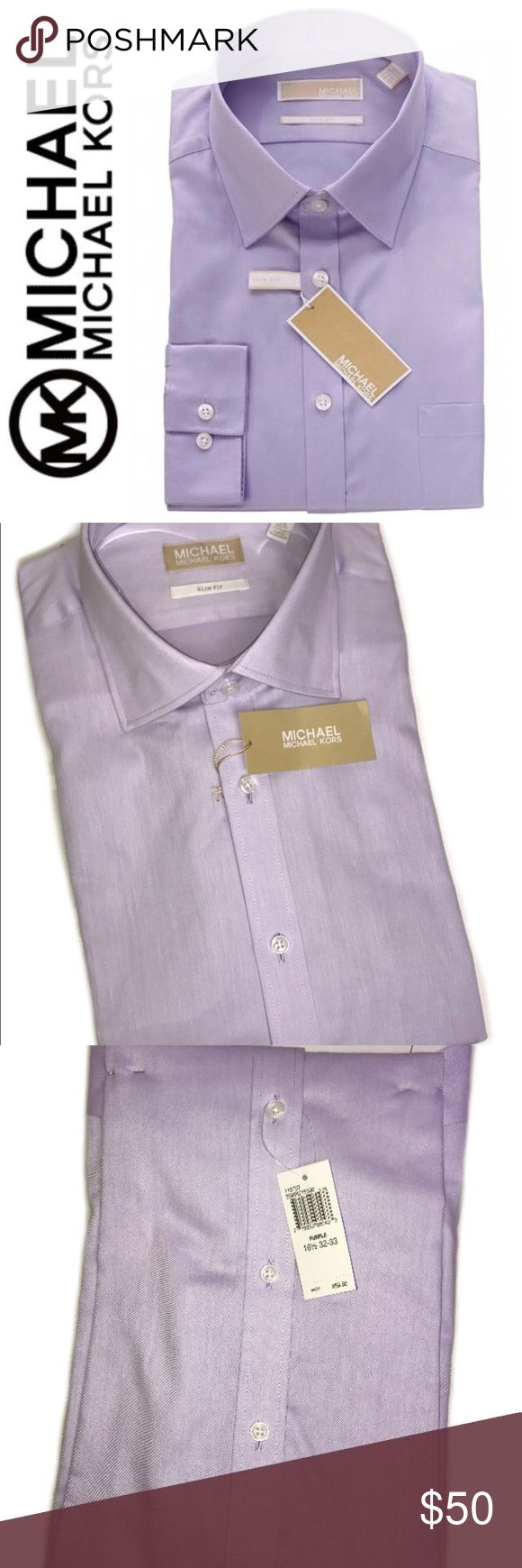 Michael Kors Signature Slim Fit Dress Shirt Michael Kors Signature Slim Fit Dress Shirt in Brilliant Lavender, Size Large 16 1/2, 32/33 Tag, Dress to Impress with this Long Sleeve Dress Shirt, a Must to Every Man's Closet! Michael Kors Shirts Dress Shirts