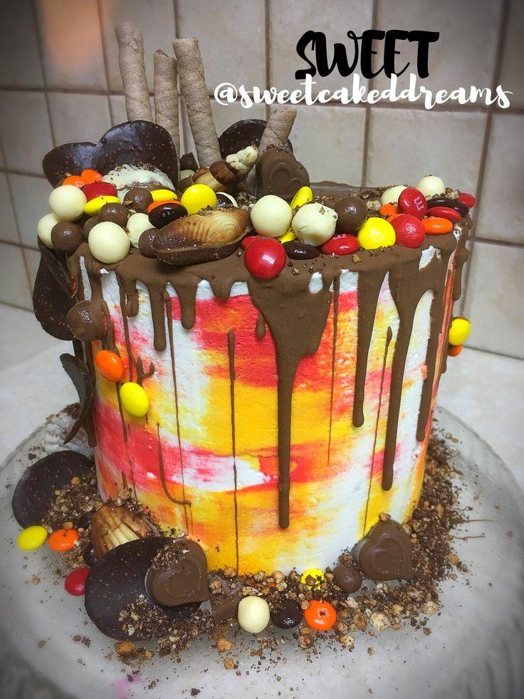 Summer drip cake