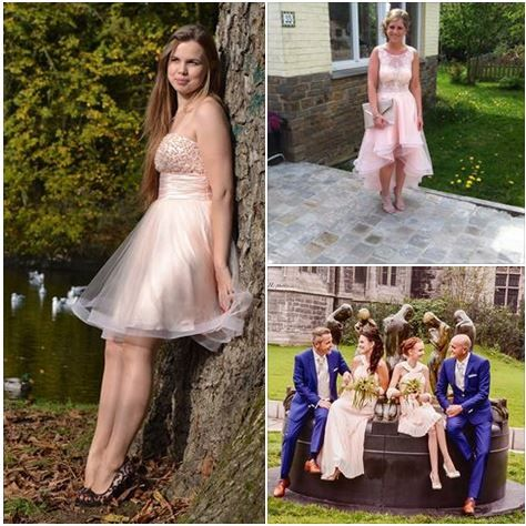 Spotted on our facebook page.  Robe roze. Pink dresses. Roze kleedjes.  #bruidsmeisjes #avondkledij #evenigwear #promdress