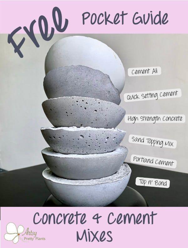 Concrete Cement Free Pocket Guide Concrete Diy Concrete Crafts Cement Crafts