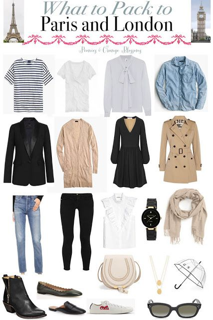 What to Pack to Paris and London - a guide on what to wear for all the seasons!
