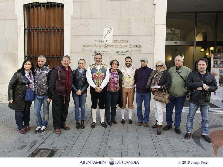 Con los periodistas nacionales e internacionales que han promocionado las Fallas de Gandia por todo el mundo