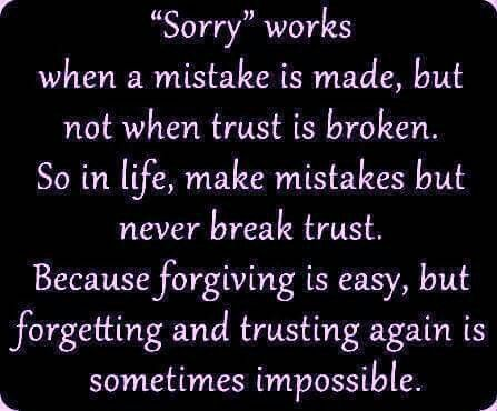 Saying sorry just admits what you are to really ask for forgiveness apologize first admit you did it tell the truth don't make excuses or try to justify it ask for forgiveness and don't forget and do it again! ♡ ♡