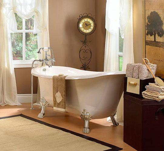 7 Traditional Bathroom Ideas: Traditional Clawfoot Tub From Foremost #Bathroom