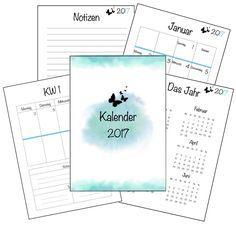 Kalender 2017 - kostenloser Download (Filofax, Staples) | einfach & kreativ (Cool Crafts Life)