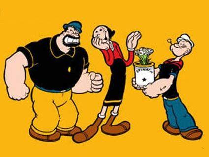 Popeye's strange, comic and often Brutus, olive & Popeye