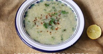 jari byad , soupe blanche au blé concassé et poulet
