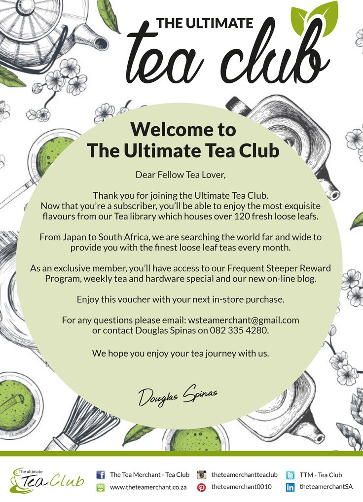 Welcome to the ultimate tea club