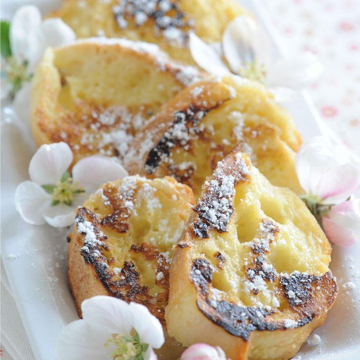 Découvrez la recette Pain perdu à la fleur d'oranger sur cuisineactuelle.fr.
