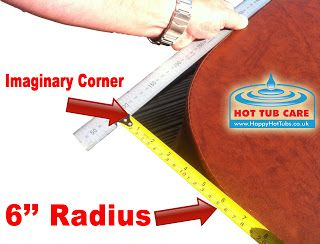 How to measure the radius of a hot tub cover