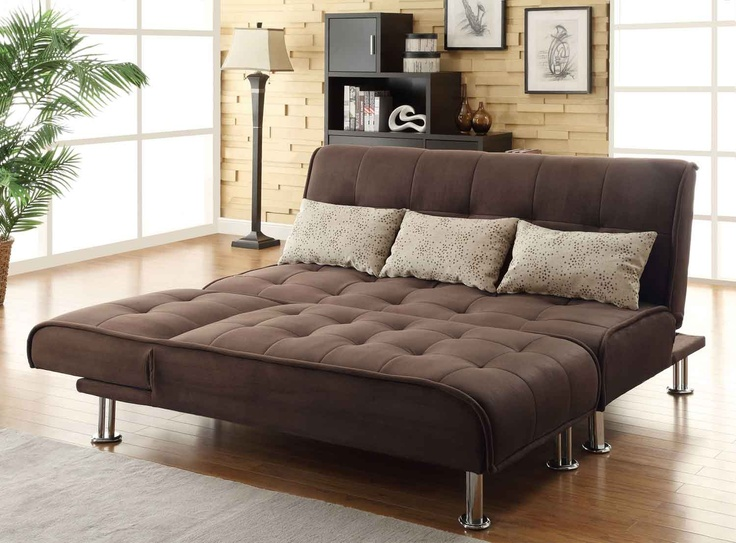 Coaster Transitional Styled Sleeper Sofa And Chaise In Brown   300276
