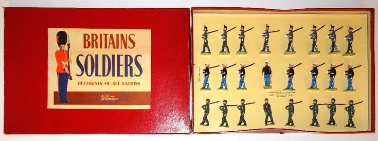 Lot 153 - Britains set 232, US Infantry, Marines and West Point Cadets Display