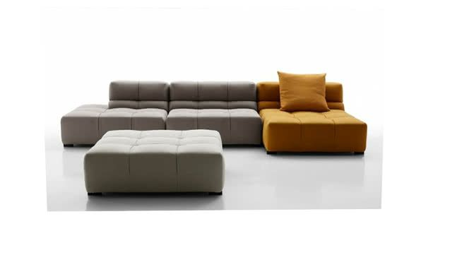 Large preview of 3D Model of SOFA TUFTY TIME 15' - B&B ITALIA